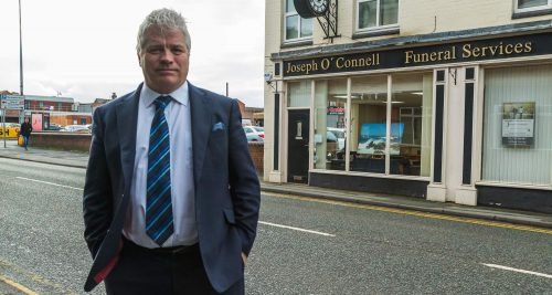 Joseph O'Connell outside premises